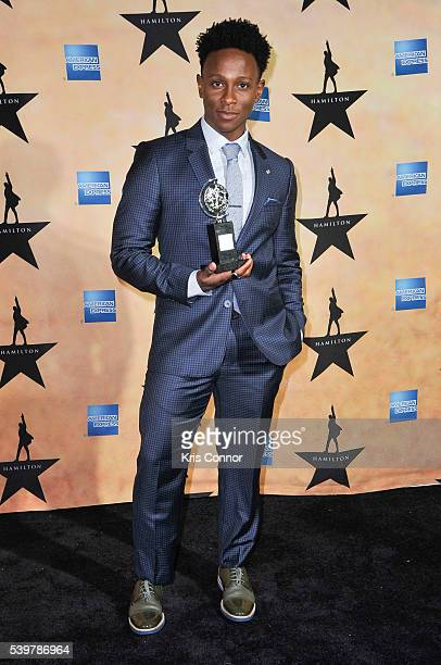 Gregory Haney poses for photographers during the 'Hamilton' Tony Awards After Party at Tavern On The Green on June 12 2016 in New York City