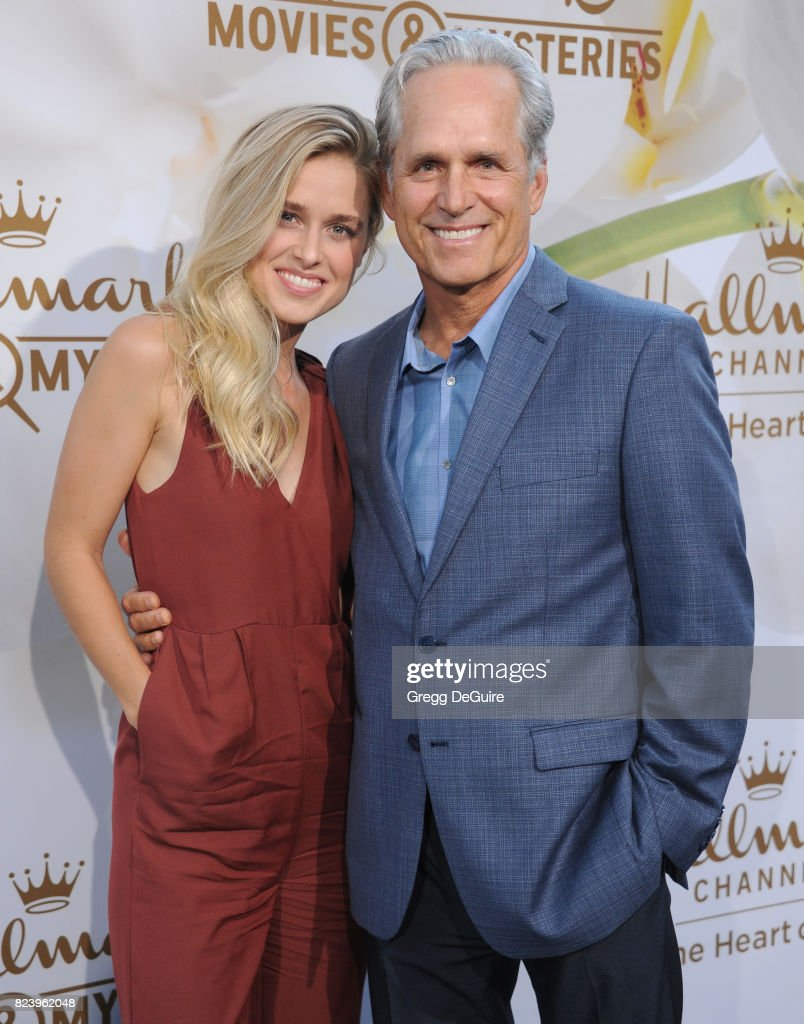 Gregory Harrison and Lily Anne Harrison arrive at the 2017 Summer TCA Tour - Hallmark Channel And Hallmark Movies And Mysteries at a private residence on July 27, 2017 in Beverly Hills, California.