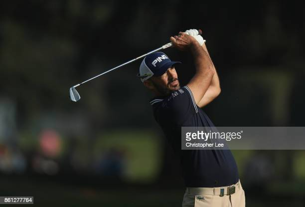 Gregory Havret of France in action during Day Three of The Italian Open at Golf Club Milano Parco Reale di Monza on October 14 2017 in Monza Italy