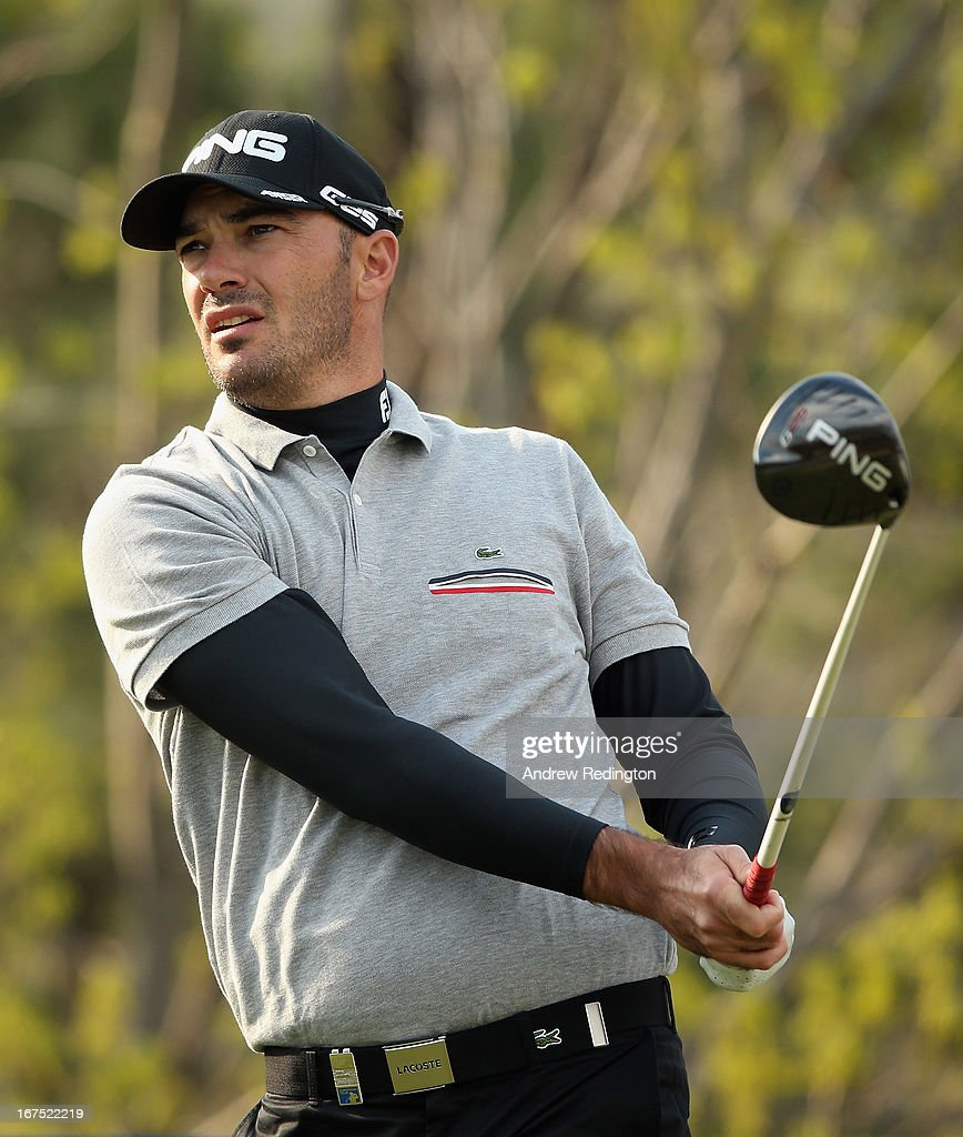 Gregory Havret of France in action during the second round of the Ballantine's Championship at Blackstone Golf Club on April 26, 2013 in Icheon, South Korea.