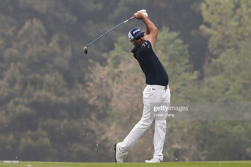 <a gi-track='captionPersonalityLinkClicked' href=/galleries/search?phrase=Gregory+Havret&family=editorial&specificpeople=211168 ng-click='$event.stopPropagation()'>Gregory Havret</a> of France plays a shot during the final round of the Volvo China open at Topwin Golf and Country Club on May 1, 2016 in Beijing, China.