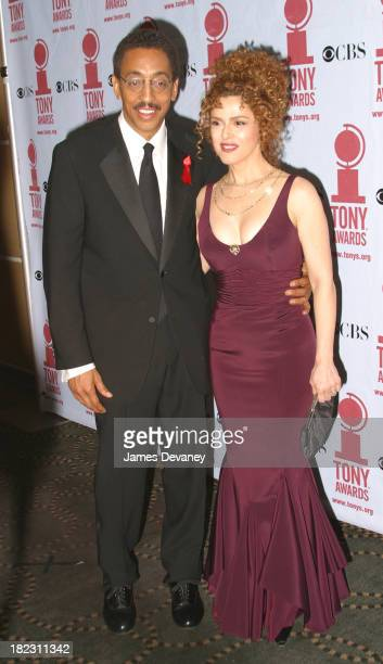 Gregory Hines and Bernadette Peters during 56th Annual Tony Awards Press Room at American Theater at Radio City Music Hall in New York City New York...