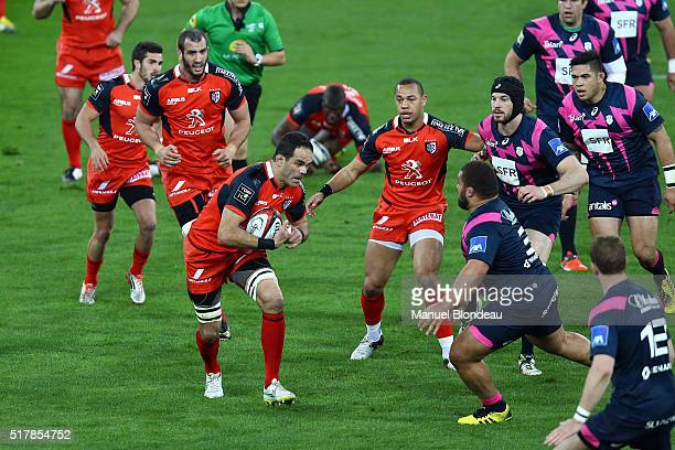 Gregory Lamboley of Toulouse during the French Top 14 rugby union match between Stade Toulousain v Stade Francais Paris at Stadium Municipal on March...