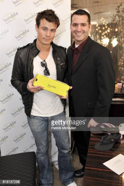 Gregory Michael and Tom Sesti attend Silver Spoon Presents Oscar Weekend Red Cross Event For Haiti Relief at Interior Illusions on March 3 2010 in...