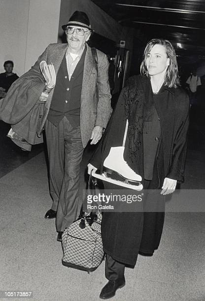 Gregory Peck and daughter Cecilia Peck during Arriving from New York at Los Angeles International Airport in Los Angeles California United States