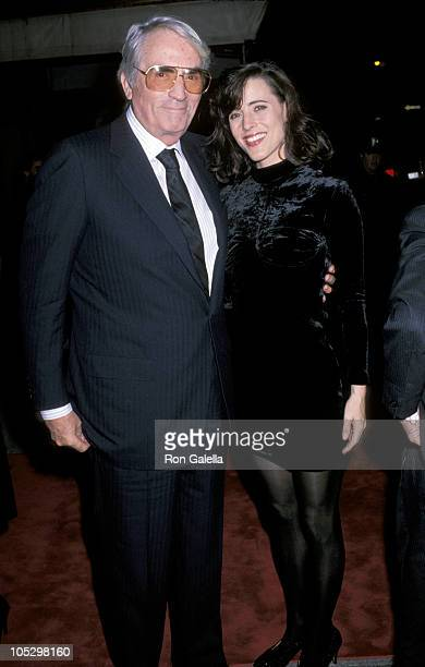 Gregory Peck and daughter Cecilia Peck during 'Old Gringo' Premiere After Party at Ziegfeld Theater/Plaza Hotel in New York City NY United States