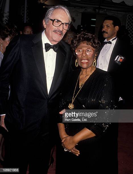 Gregory Peck and Ella Fitzgerald during Sammy Davis Jr's 60th Anniversary Celebration In Show Business at Shrine Auditorium in Los Angeles California...