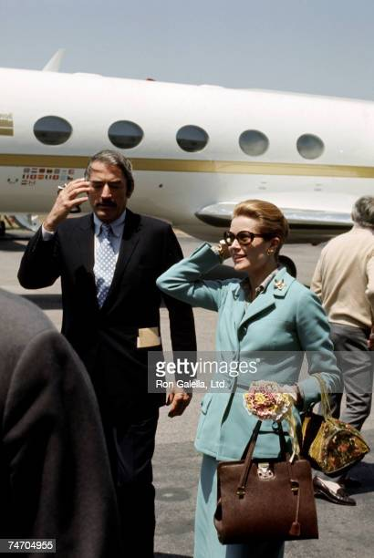 Gregory Peck and Grace Kelly at the Los Angeles International Airport in Los Angeles California