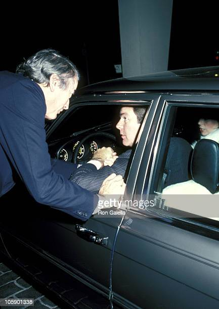Gregory Peck and Robert Wagner during Gregory Peck and Robert Wagner Sighting at Jimmy's Restaurant January 2 1981 at Jimmy's Restaurant in Beverly...