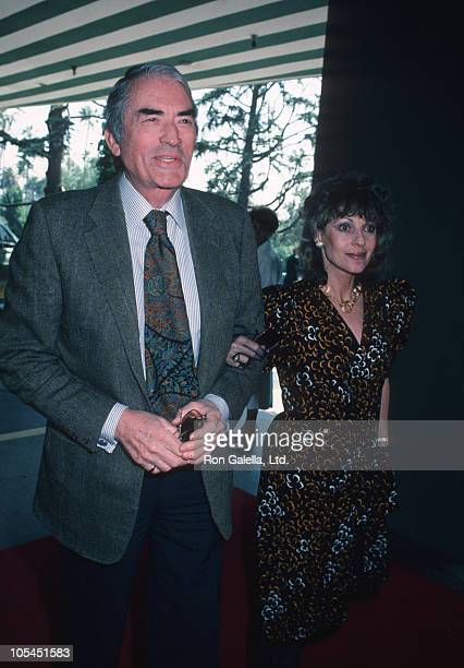 Gregory Peck and Veronique Peck during Radie Harris Tribute at Hilton Hotel in Beverly Hills California United States
