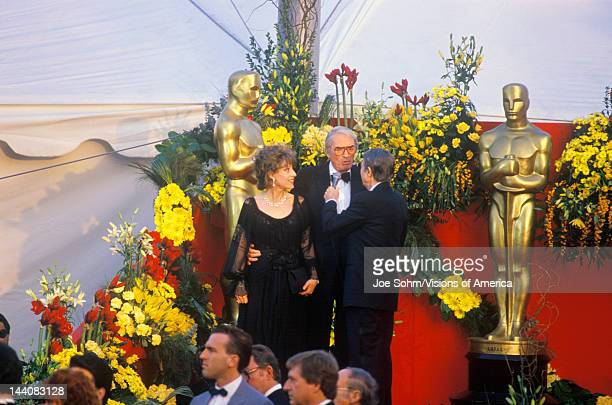 Gregory Peck and Wife at 62nd Annual Academy Awards Los Angeles California