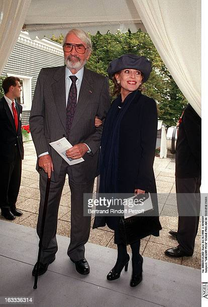 Gregory Peck and wife at The Arc De Triomphe Grand Prix In Paris