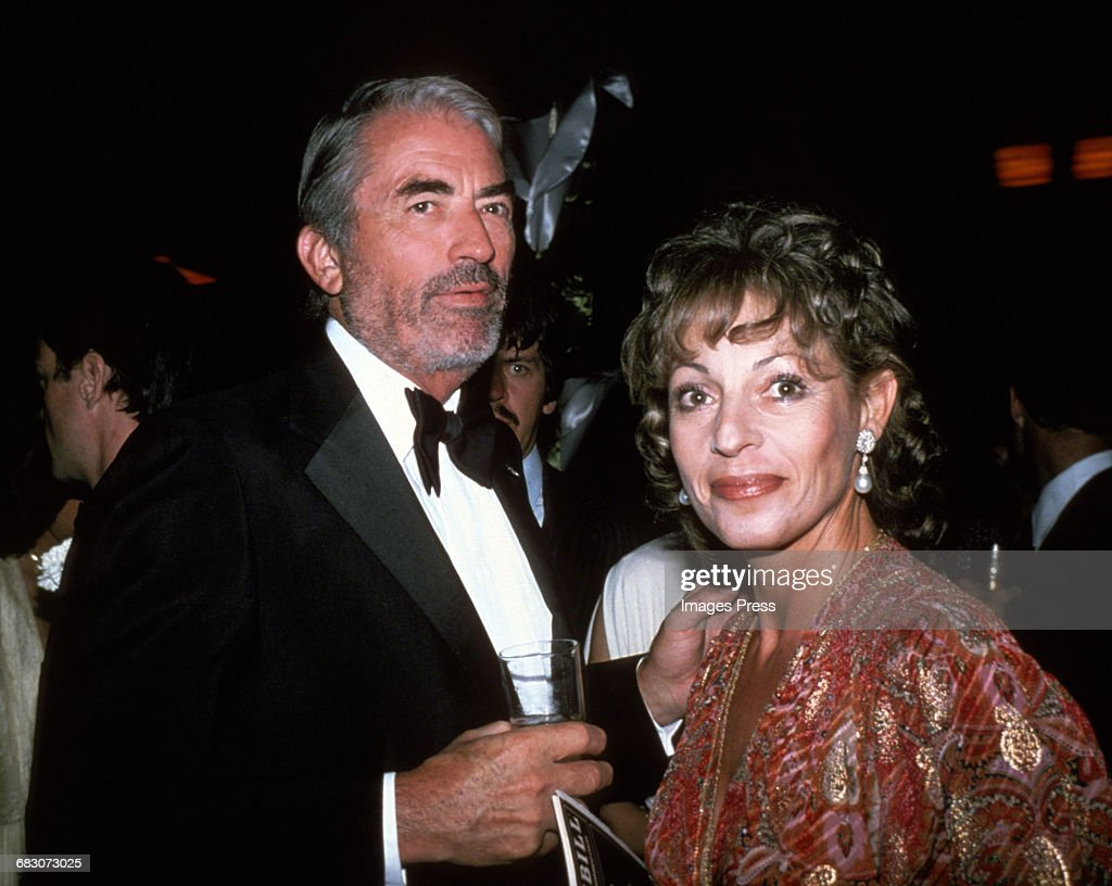 Gregory Peck and wife Veronique circa 1980s in New York City.