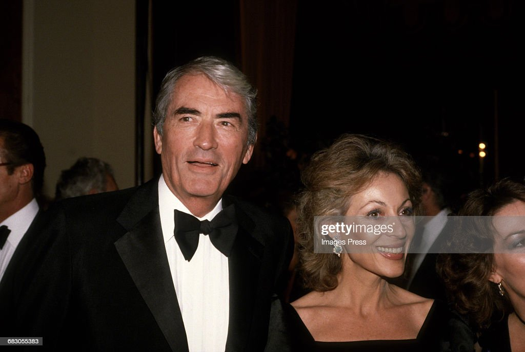 Gregory Peck and wife Veronique circa 1981 in Los Angeles, California.