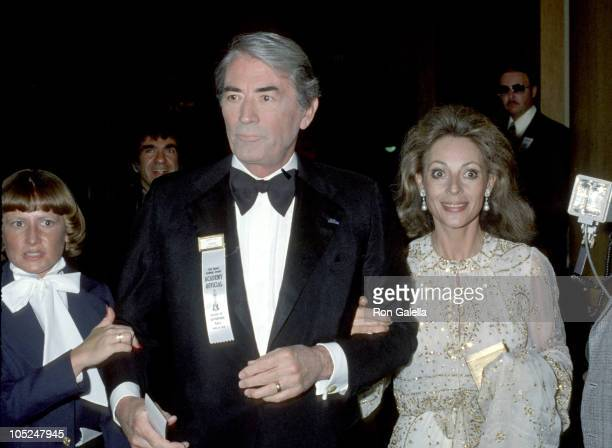Gregory Peck and wife Veronique during 51st Annual Academy Awards at Dorothy Chandler Pavilion at the LA Music Center in Los Angeles CA United States