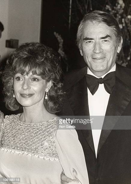 Gregory Peck and wife Veronique during 54th Annual Academy Awards Governor's Ball at Beverly Hilton Hotel in Beverly Hills CA United States