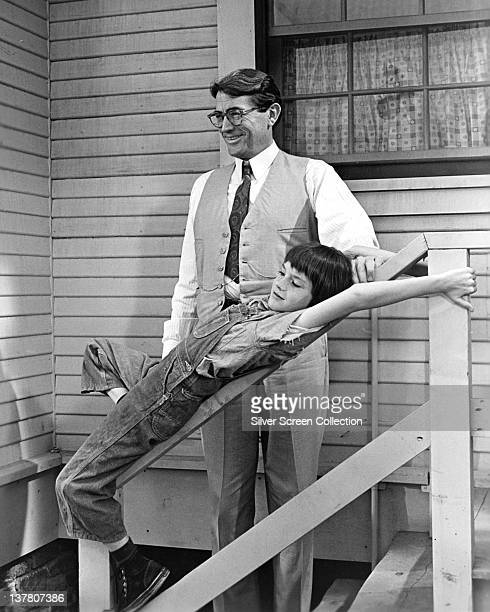 Gregory Peck as Atticus Finch and Mary Badham as Jean Louise 'Scout' Finch in the film 'To Kill a Mockingbird' 1962