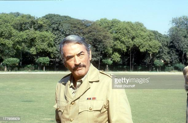 Gregory Peck Dreharbeiten zum Kinofilm 'Die Seewölfe kommen' Neu Dehli Indien Asien Uniform Kostüm Schauspieler