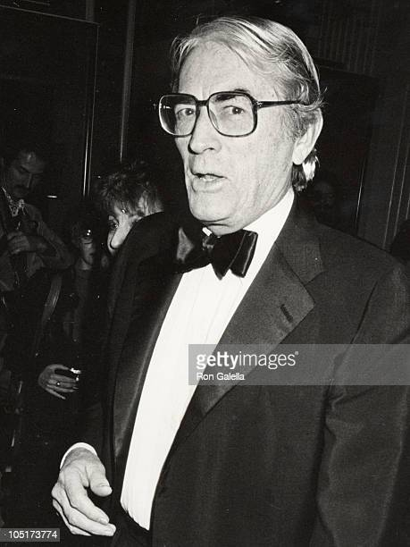 Gregory Peck during 1984 American Friends Hebrew University Scopus Awards at Beverly Hilton Hotel in Beverly Hills California United States