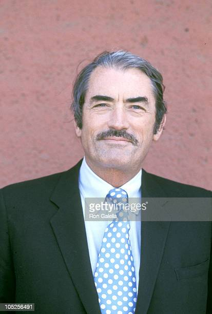 Gregory Peck during Arriving in Los Angeles for press conference at Los Angeles International Airport in Los Angeles California United States
