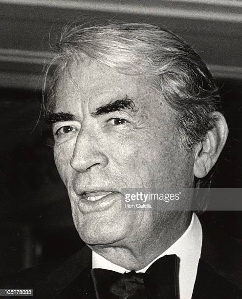 Gregory Peck during Black White Ball at Hyatt Regency in Los Angeles CA United States