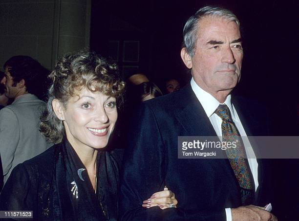 Gregory Peck during Gregory Peck and wife Veronique Sighting in London August 15 1978 in London United States