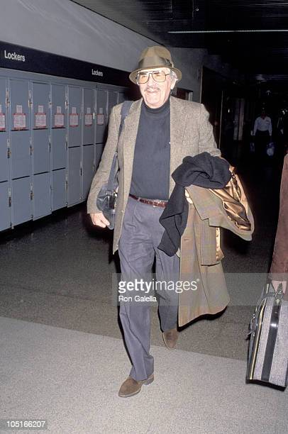 Gregory Peck during Gregory Peck Departing for NY at Los Angeles International Airport in Los Angeles California United States