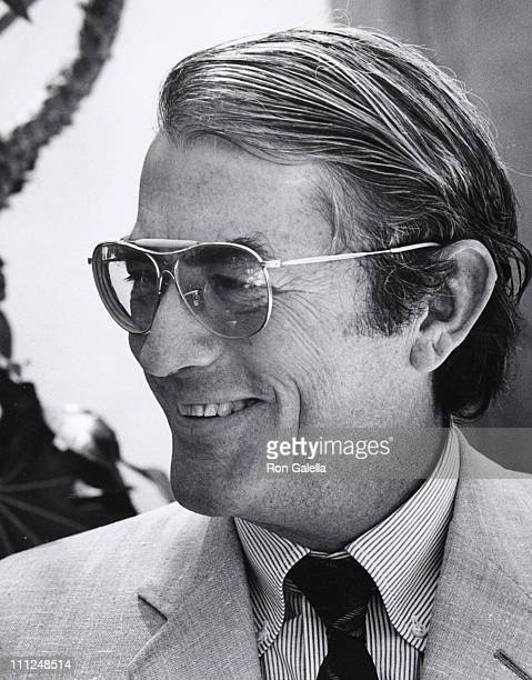 Gregory Peck during Hollywood Foreign Press Conference at Beverly Hills Hotel in Beverly Hills California United States