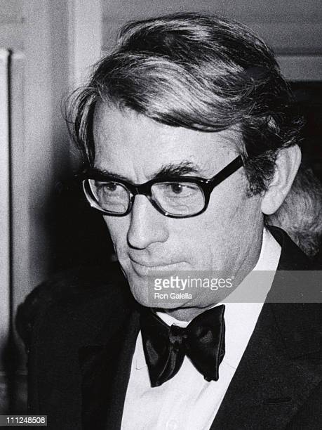 Gregory Peck during Laurence Olivier Honored by the American National Theater of Arts Academy at National Theater in Westwood CA United States