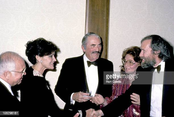 Gregory Peck Jim Heson Jean Carson Guests during Gregory Peck Sighting At Century Plaza Hotel at Century Plaza Hotel in Century City California...