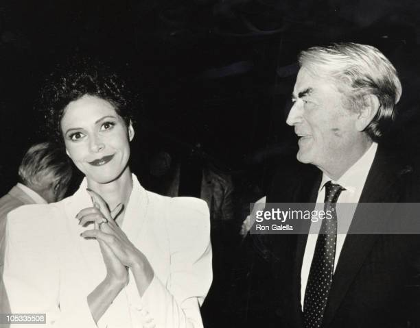 Gregory Peck Lonette McKee during Opening Night of 'Lady Day at Emerson's Bar Grill' at Westside Arts Theater in New York City NY United States