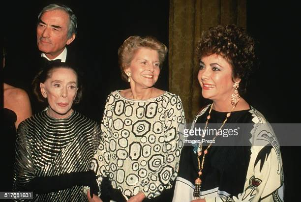 Gregory Peck Martha Graham Betty Ford and Elizabeth Taylor attends the Opening Night Gala of the Martha Graham Dance Company's 3week season of...