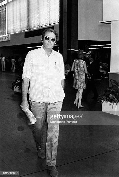 Gregory Peck out strolling wearing sunglasses Nice 1970