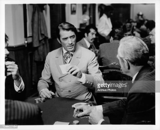 Gregory Peck portrays a flashy gamber in a scene from the film 'How The West Was Won' 1962