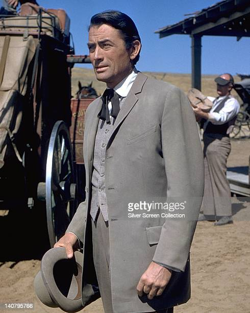 Gregory Peck US actor in period costume in a publicity portrait issued for the film 'The Big Country' USA 1958 The western directed by William Wyler...