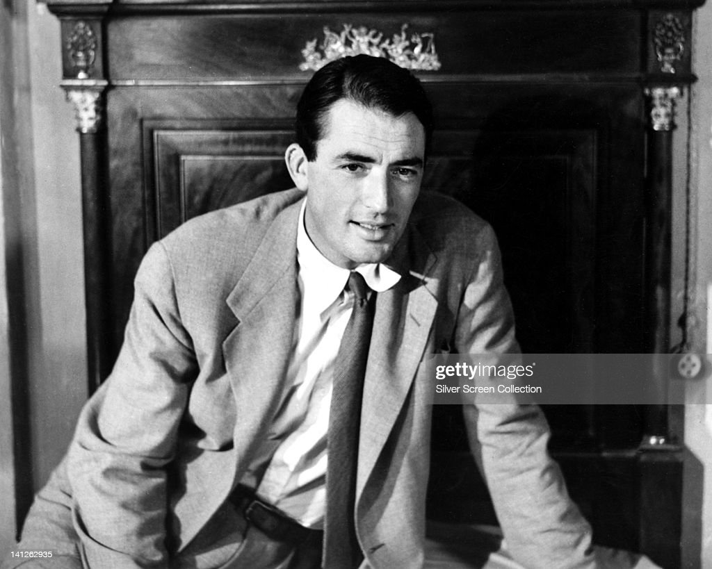 <a gi-track='captionPersonalityLinkClicked' href=/galleries/search?phrase=Gregory+Peck&family=editorial&specificpeople=69992 ng-click='$event.stopPropagation()'>Gregory Peck</a> (1916-2003), US actor, wearing a light grey jacket over a white shirt, with a dark tie, in a studio portrait, circa 1950.