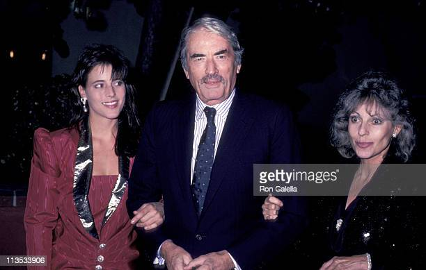 Gregory Peck Wife and Daughter during Pro Peace Benefit Dinner at Bistro Restaurant in Beverly Hills CA United States