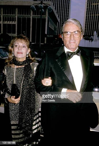 Gregory Peck Wife during Valentino Awards honoring Gregory Peck at Century Plaza Hotel in Century City California United States