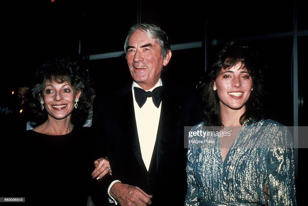 Gregory Peck, wife Veronique and daughter Cecilia circa 1980s in New York City.