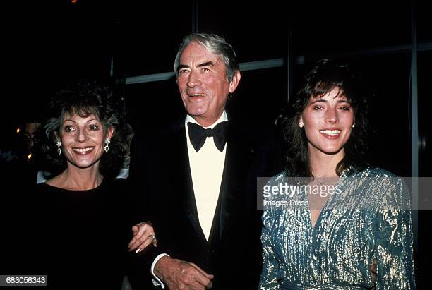 Gregory Peck wife Veronique and daughter Cecilia circa 1980s in New York City