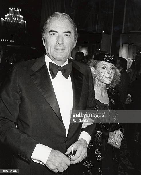 Gregory Peck wife Veronique during 36th Annual Golden Globe Awards at Beverly Hilton Hotel in Beverly Hills California United States