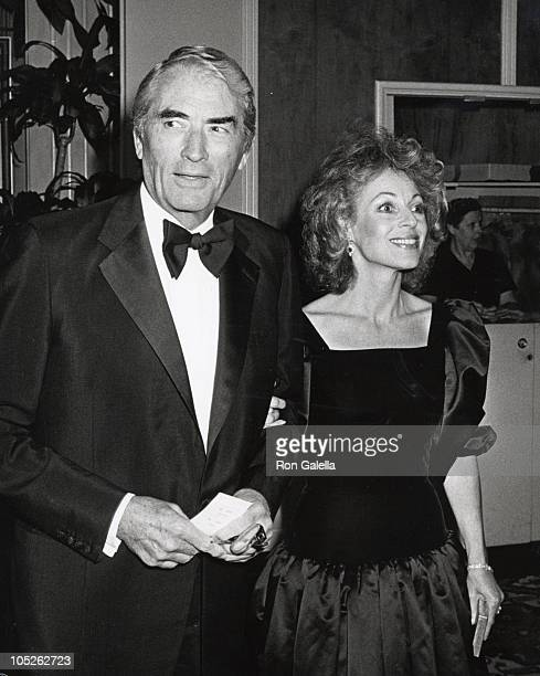 Gregory Peck wife Veronique during 'Gala Evening in Monaco' Dubnoff Center Benefit April 24 1981 at Beverly Hilton Hotel in Beverly Hills California...