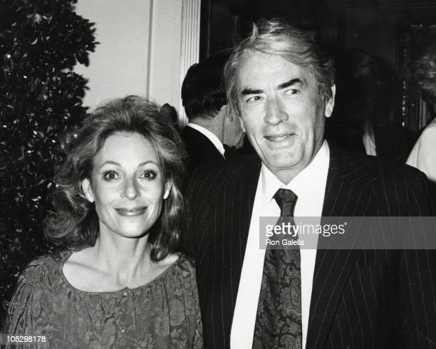 Gregory Peck wife Veronique during Gregory Peck and Wife Outside Chasen's Restaurant at Chasen's Restaurant in Los Angeles CA United States