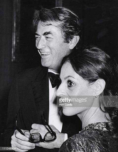 Gregory Peck wife Veronique during Laurence Olivier Honored by the American National Theater of Arts Academy at National Theater in Westwood CA...