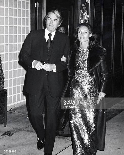 Gregory Peck wife Veronique during Party for Art Buchwald at Bistro in Los Angeles CA United States
