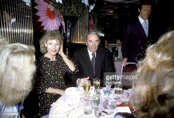 Gregory Peck wife Veronique Roger Moore during Regine's Valentines Party at Regine's in New York City New York United States