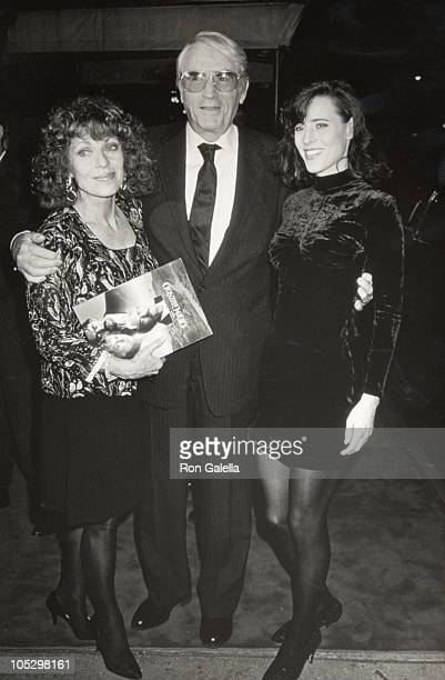 Gregory Peck with his wife Veronique Peck and daughter Cecilia Peck
