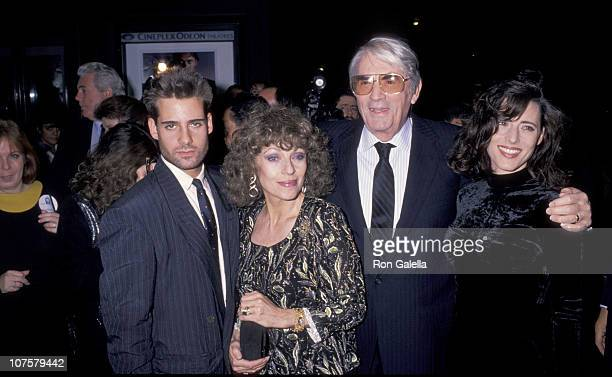 Gregory Peck with wife Veronique and daughter Cecilia and her date