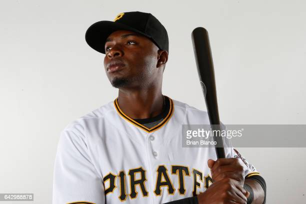 Gregory Polanco of the Pittsburgh Pirates poses for a photograph during MLB spring training photo day on February 19 2017 at Pirate City in Bradenton...
