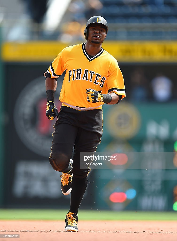 Gregory Polanco #25 of the Pittsburgh Pirates rounds the bases after hitting a solo home run during the fifth inning against the Cincinnati Reds on May 1, 2016 at PNC Park in Pittsburgh, Pennsylvania.